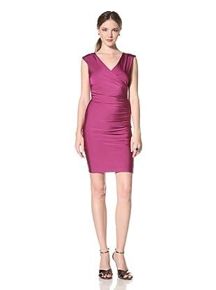 Marc New York Women's Surplice Zip Dress (Purple)