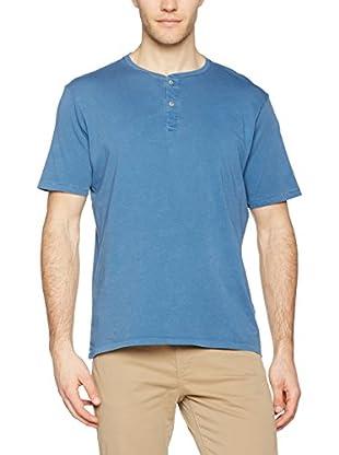 Dockers T-Shirt Manica Corta Ss Garment Dye Henley Copen Blue