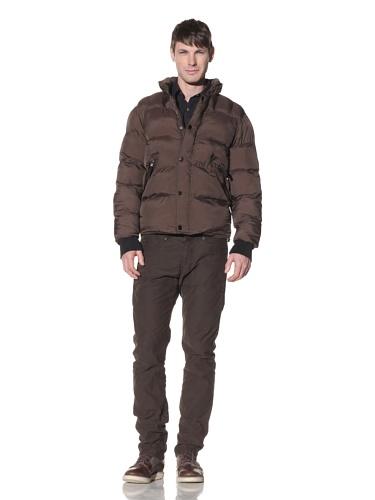 Projek Raw Men's Nylon Puffer Jacket (Army)