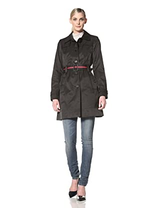 Tommy Hilfiger Women's Marlo Trench Coat (Black)