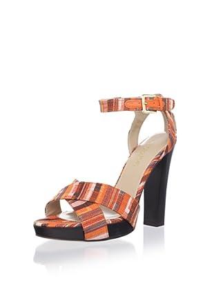 Chelsea Paris Women's Bardo Crisscross Sandal (Orange Kente)
