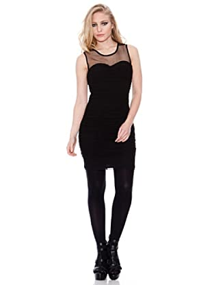 Firetrap Vestido Fruncido (Negro)