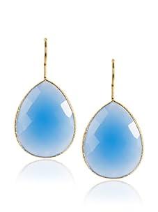 Leslie Danzis Teardrop Earrings, Blue/Gold