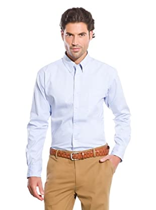 Cortefiel Camisa Popelín Liso (Azul claro)