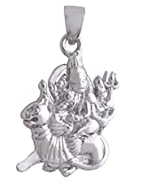 DDPearls 92.5 Sterling silver auspecious Maa Sherawali god pendant