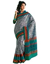 Orbymart Exclusive Designer Raw Silk Multi Colour Printed Saree - 55252966