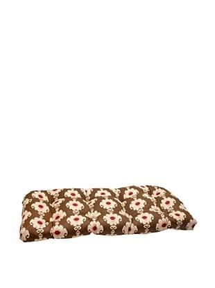 Waverly Sun-n-Shade Rise and Shine Henna Wicker Loveseat Cushion (Red/Brown/Tan)
