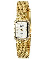 Burgi Women's BUR098YG Analog Display Japanese Quartz Gold Watch