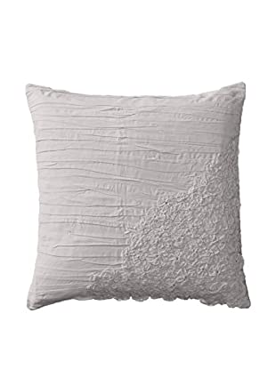 Shades of India Square Daffodil Pillow Cover, Pearl