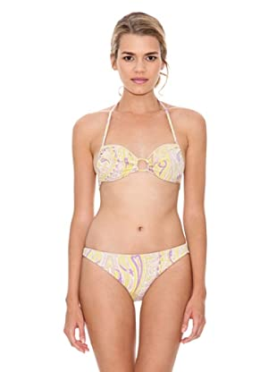 Monoplaza Bikini Santorini (Amarillo)