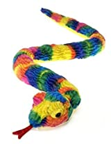 Rainbow Tie Dye Snake Plush Stuffed Animal Toy By Fiesta Toys 62""