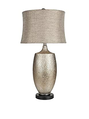 Surya Hammered Silver Leaf Table Lamp