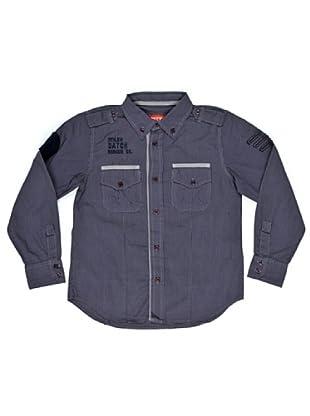 Datch Dudes Camisa Wakulla (Negro / Gris)