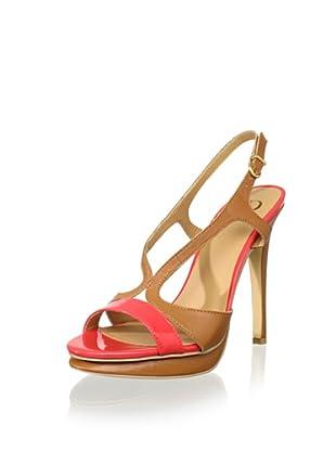 Kelsi Dagger Women's Camryn HH Platform Sandal (Coral Patent)