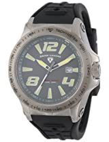 Swiss Legend Men's 10043-GM-014 Sprint Racer Grey Dial Black Silicone Watch