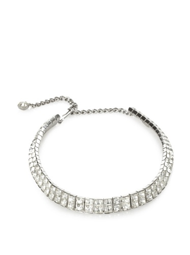 Lulu Frost 1920's Art Deco Double Strand Choker Necklace, Silver