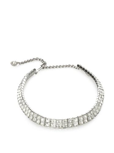 Lulu Frost 1920's Art Deco Double Strand Choker Necklace, Silver