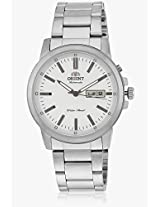 Sem7j005w8 Silver/White Analog Watch Orient