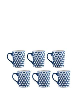 Shiraleah Set of 6 Blue SoHo 16-Oz. Mugs