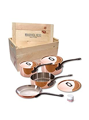 Mauviel M'heritage Crated 7-Piece Set with Cast Iron Handles
