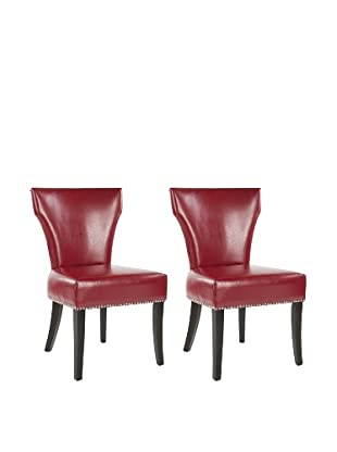 Safavieh Set of 2 Jappic Kd Side Chairs, Red