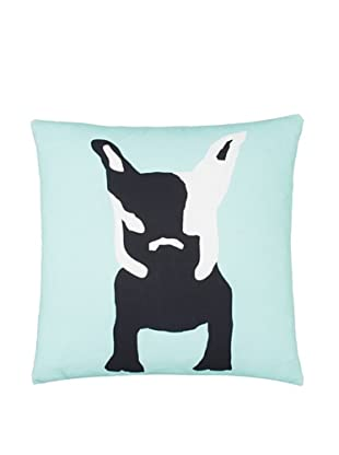 Twinkle Living Milan's Imaginary Friend Pillow Cover, Seafoam/Black, 18