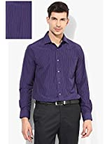 Blue Striped Slim Fit Formal Shirt Peter England
