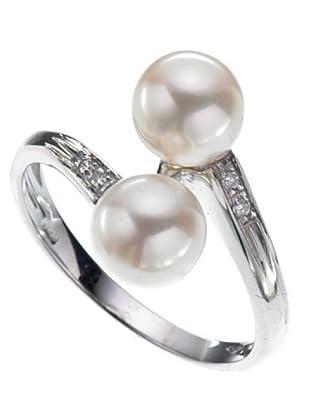 Emi Kawai Ring Weißgold 18k Perle 6,5 mm