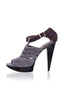 MARNI Women's Strappy Platform Sandal (Grey Eggplant)