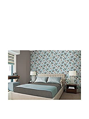 Brewster Freud Blossom Trail Strippable Wallpaper, Light Blue