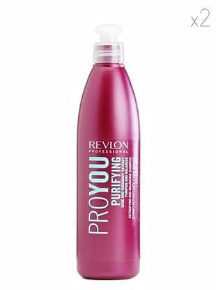 Revlon  Set 2 Pro You Champús Purificante Equilibra Extractos Vegetales 350  ml