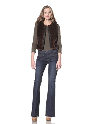 Genetic Denim Women's Adriane Patch Pocket Bell Bottom Jean (Dark Seafoam)