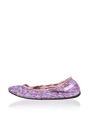 Ballasox by Corso Como Women's Prince Ballet Flat (Lavender/Floral Embroidery)