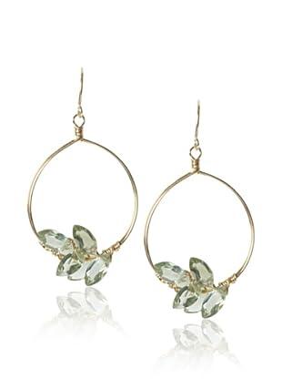 Misha Green Amethyst Hoop Earrings