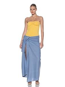 Chris Benz Women's Luxury Silk Sarong (Light Blue)