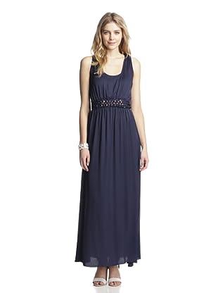 Aijek Women's Wilful Innocense Braided Maxi Dress (Navy)