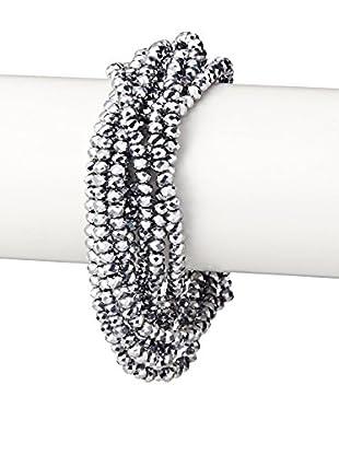 Saachi Hematite Crystal Torsade Bracelet