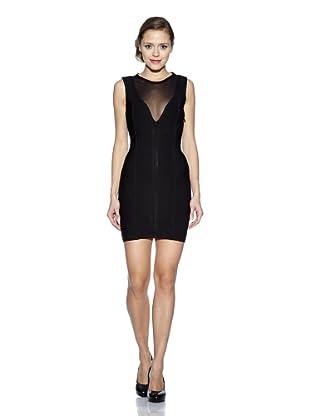 Corizzi & Absolu Vestido Tul Escote Pico Cóctel (Negro)