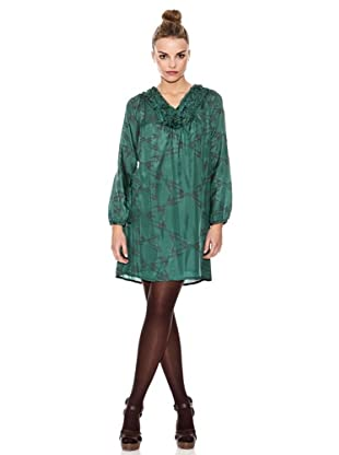Laga Vestido Seda Estamado (Verde)