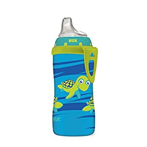 NUK Active Silicone Spout Learning Cup Blue Turtle 10-Ounce
