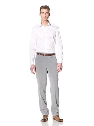 Corbin Men's Dreamweave Flat-Front Trousers (Light Grey)