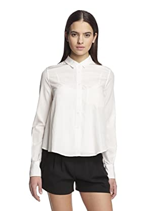 Band of Outsiders Women's Cropped Boxy Shirt (White)