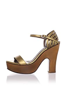 MARNI Women's Ankle-Strap Platform Sandal (New Gold)