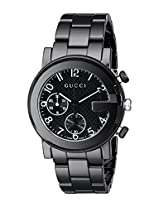 Gucci Mens YA101352 Gucci G - Chrono Collection Analog Display Swiss Quartz Black Watch