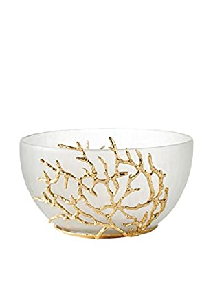 Torre & Tagus Reef Trim Glass Bowl, Gold