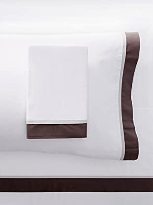 Mason Street Textiles Hotel Cuff Sheet Set (White/Charcoal)