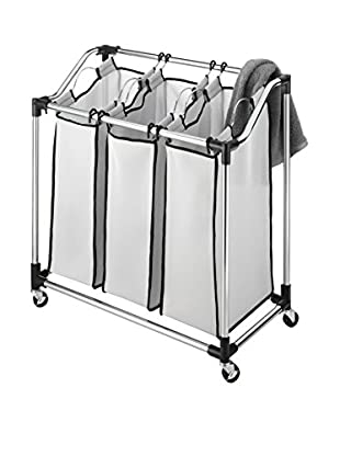 Whitmor Chrome Laundry Sorter, Silver