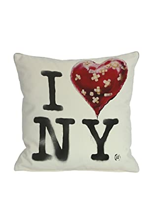 Banksy I Heart NY Pillow