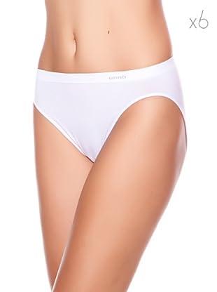 Unno Bikini Pack 6 (Blanco)