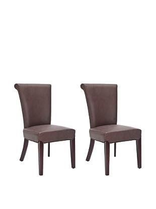 Safavieh Set of 2 Kiera Side Chairs, Brown